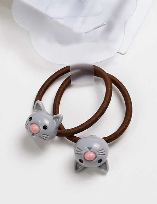 Lovely Gray Cat Shape Decorated Baby's Hair Band(2pcs)