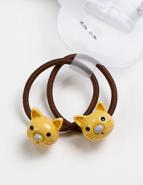 Lovely Yellow Cat Shape Decorated Baby's Hair Band(2pcs)