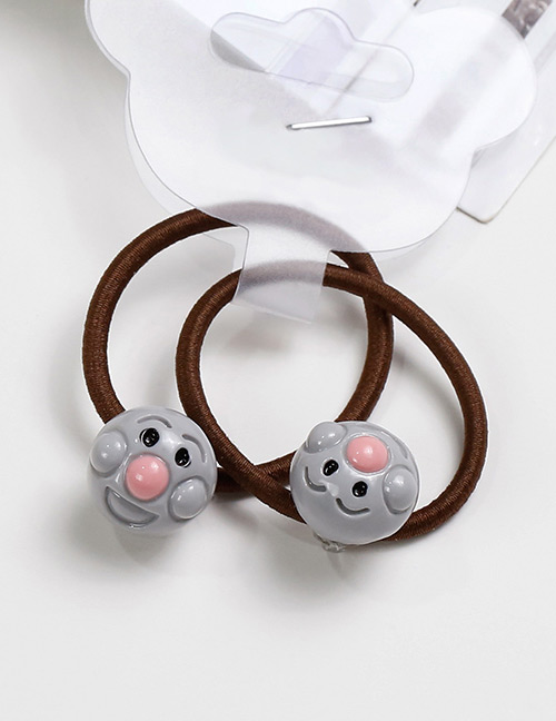 Lovely Gray Smiling Face Decorated Baby's Hair Band(2pcs)