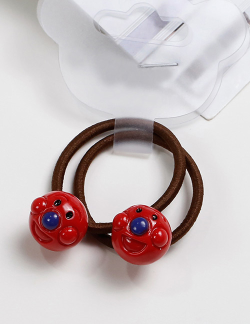 Lovely Red Smiling Face Decorated Baby's Hair Band(2pcs)