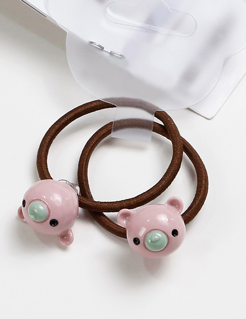 Lovely Light Pink Bears Shape Decorated Baby's Hair Band(2pcs)