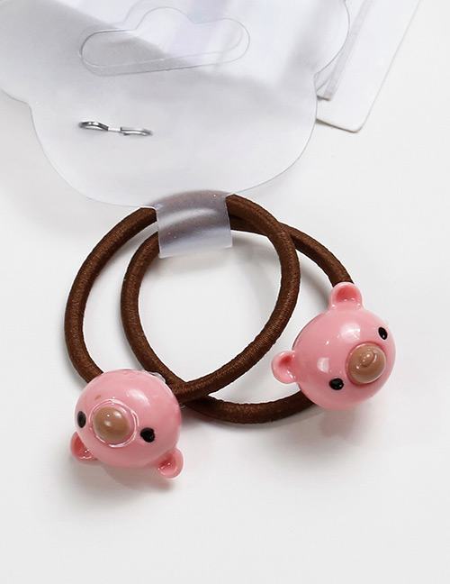 Lovely Pink Bears Shape Decorated Baby's Hair Band(2pcs)