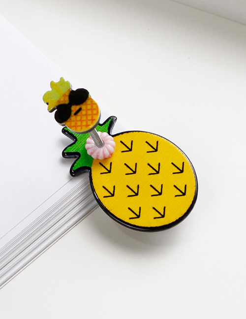 Lovely Yellow+pink Pineapple Shape Design Child Hair Clip