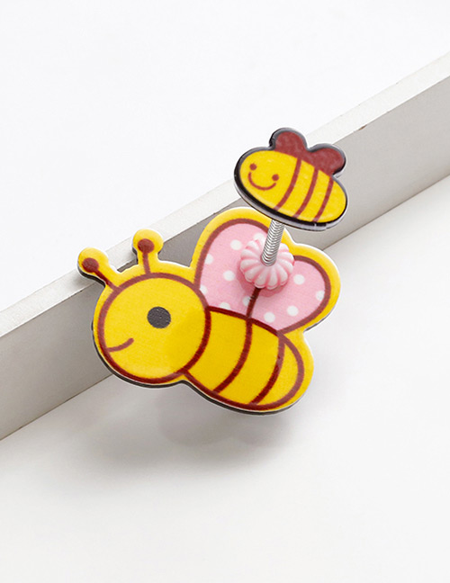 Lovely Yellow+pink Bee Shape Design Child Hair Clip