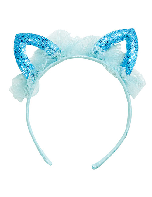 Sweet Blue Rabbit Ears Shape Design Hair Hoop
