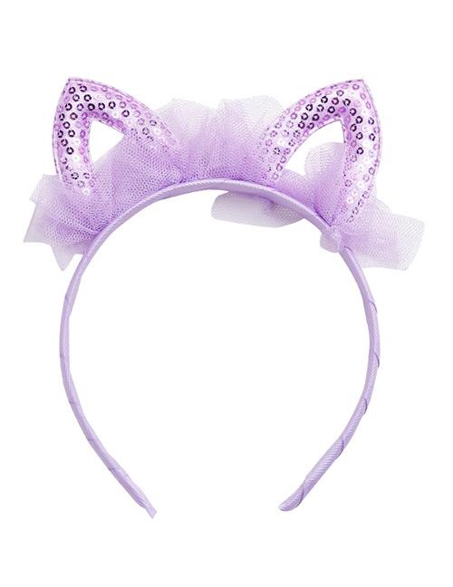 Sweet Purple Rabbit Ears Shape Design Hair Hoop