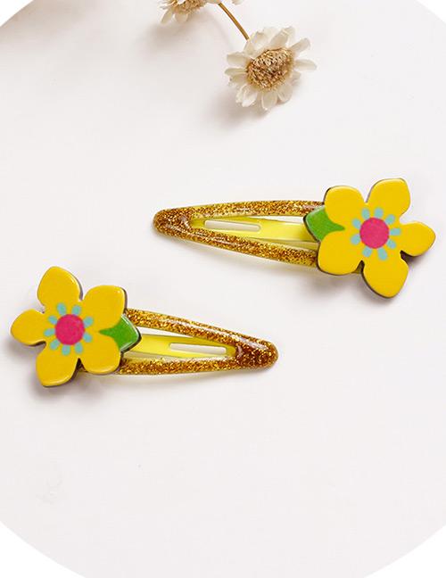 Lovely Yellow Flowers Shape Design Baby Hair Clip (2pcs)