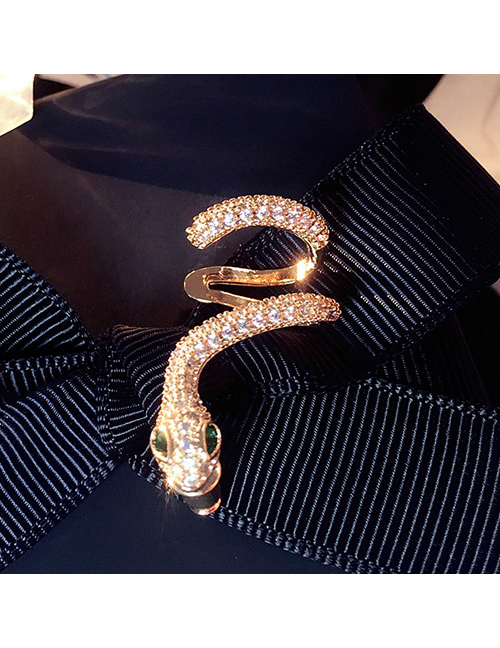 Fashion Gold Color Snake Shape Design Pure Color Earring(1pc)