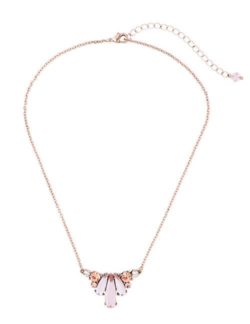 Fashion Gold Color Water Drop Shape Decorated Necklace