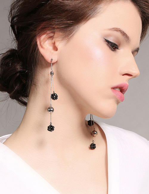 Fashion Black Pure Color Decorated Necklace