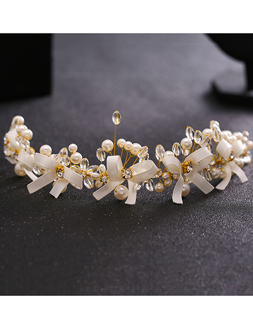 Fashion White Bowknot Shape Decorated Hair Accessories