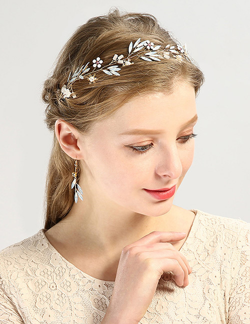 Fashion Gold Color Flower Shape Decorated Hair Accessories (3 Pcs)