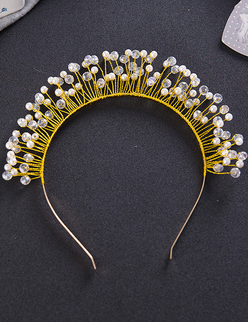 Fashion Transparent+white Pure Color Decorated Hair Accessories