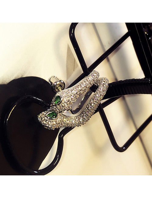 Fashion Silver Color Snake Shape Decorated Earrings (1 Pc)
