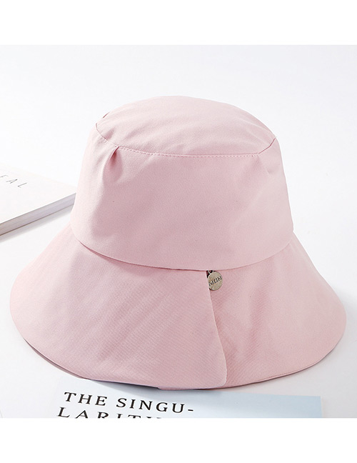 Fashion Pink Pure Color Design Fisherman Hat