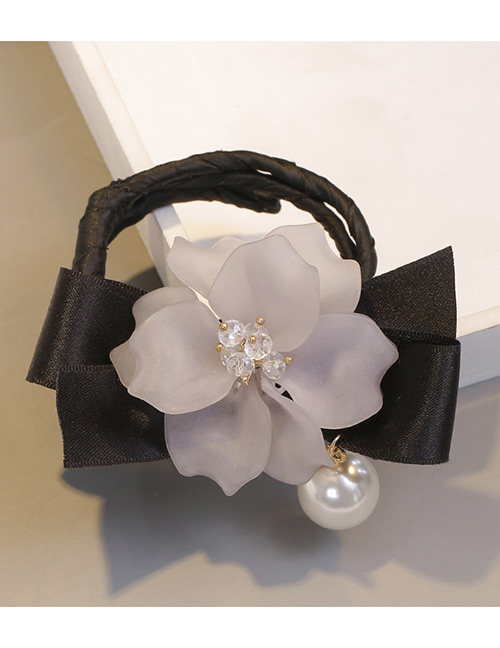 Sweet Light Gray Bowknot&flower Decorated Hair Accessories