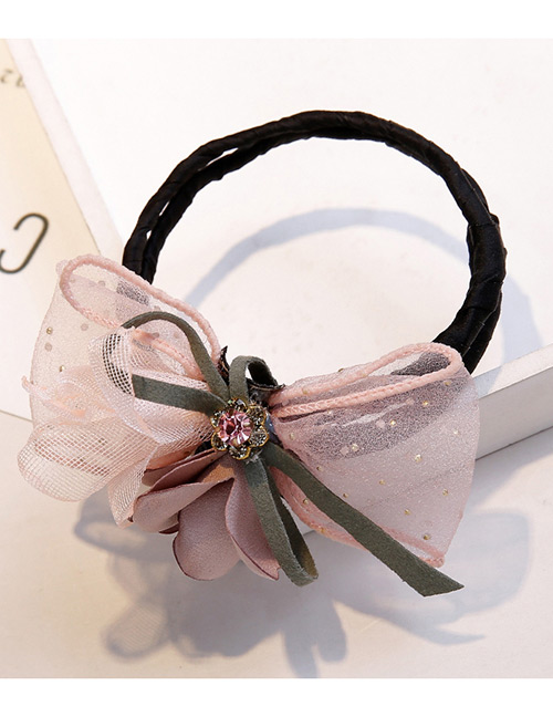 Sweet Pink Flowers&diamond Decorated Hair Band