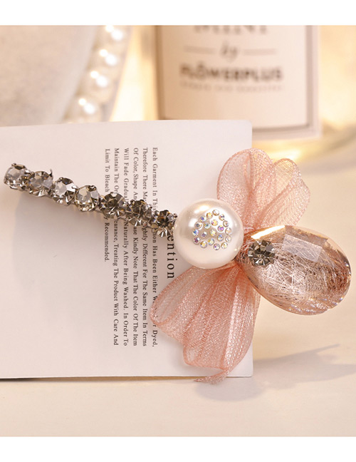 Sweet Pink Pearls&bowknot Decorated Hair Clip