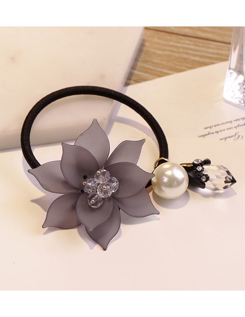 Sweet Dark Pink Flowers&pearls Decorated Hair Band