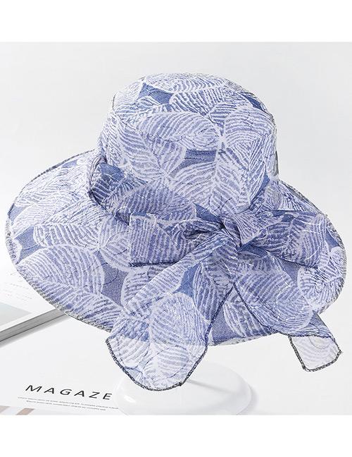 Fashion Navy Bowknot Design Foldable Sunscreen Hat