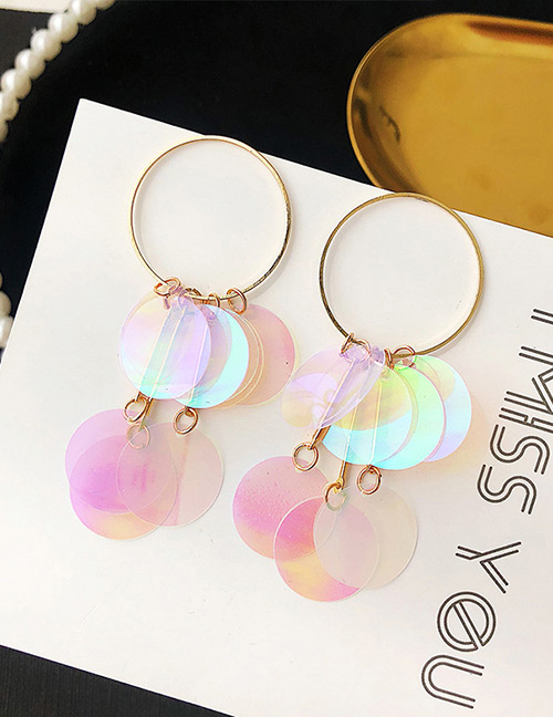 Fashion Transparent Round Shape Decorated Earrings