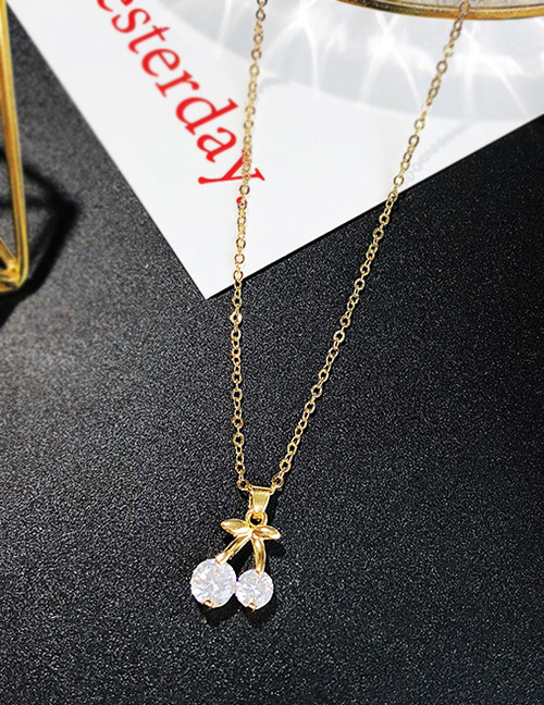 Fashion Gold Color Cherry Shape Decorated Necklace
