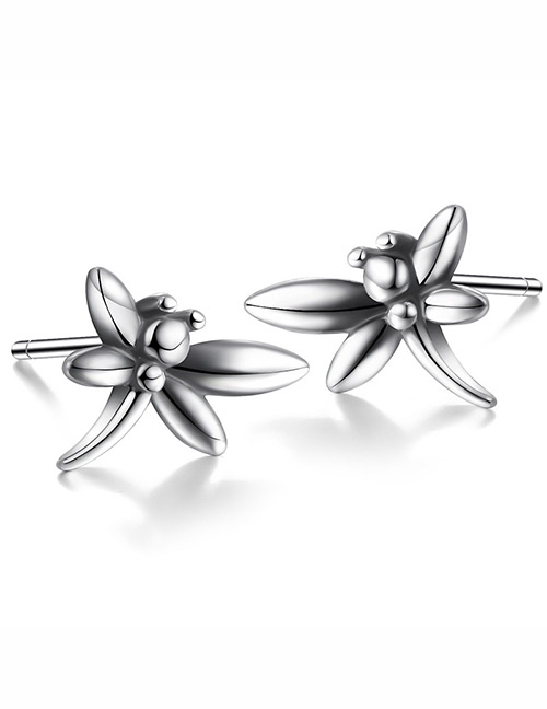 Fashion Silver Color Dragonfly Shape Design Earrings