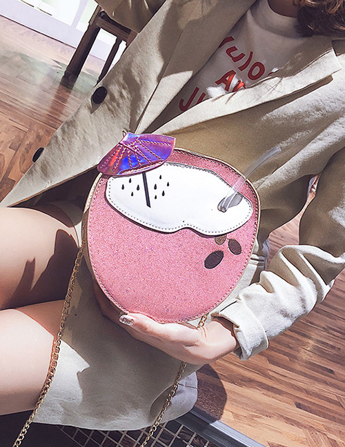 Fashion Pink Coke Bottle Shape Design Shoulder Bag