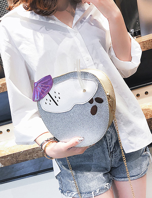 Fashion Silver Color Coke Bottle Shape Design Shoulder Bag