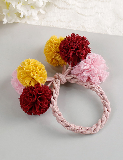 Fashion Yellow+red+pink Flower Shape Decorated Hair Band