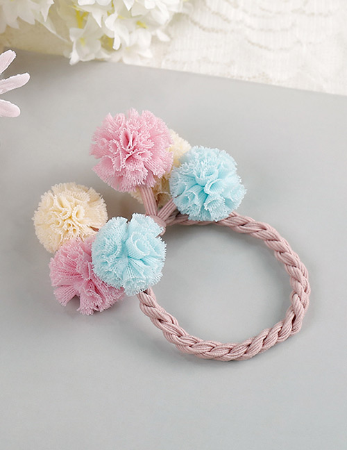 Fashion Blue+white+pink Flower Shape Decorated Hair Band