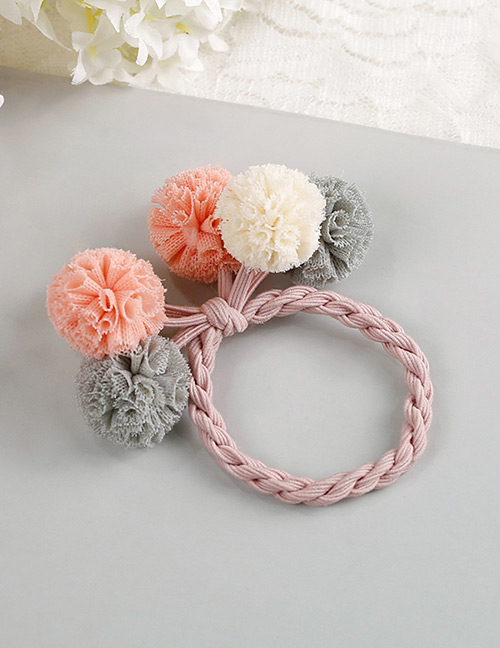 Fashion Pink+white+gray Flower Shape Decorated Hair Band