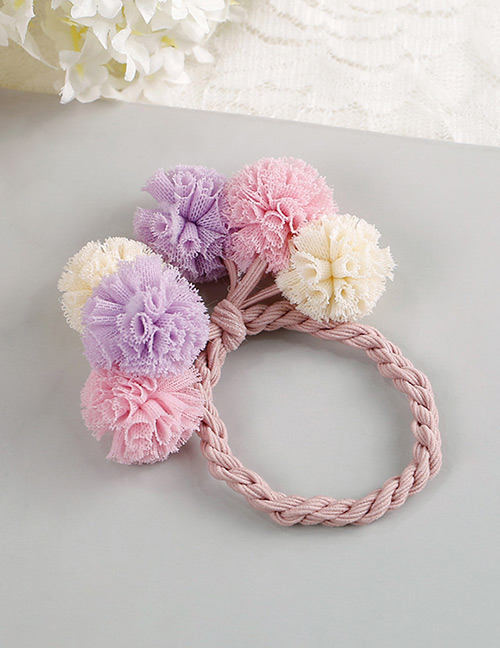 Fashion Purple+pink Flower Shape Decorated Hair Band