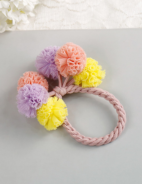 Fashion Yellow+purple+pink Flower Shape Decorated Hair Band
