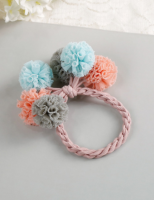 Fashion Blue+gary+pink Flower Shape Decorated Hair Band