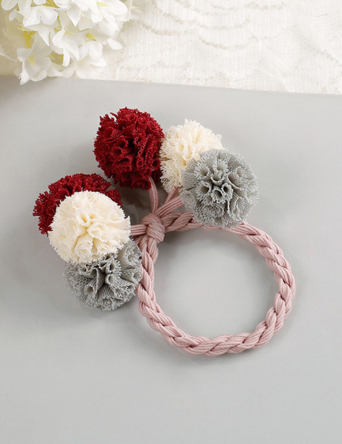 Fashion Red+white+gray Flower Shape Decorated Hair Band