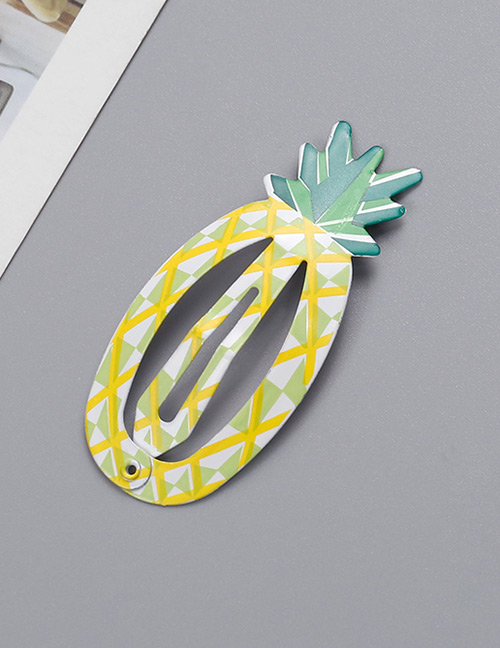 Fashion Yellow Pineapple Shape Decorated Hair Clip