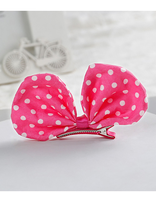 Fashion Plum Red Bowknot Shape Decorated Hair Clip