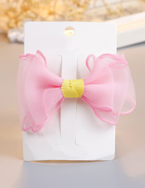 Fashion Pink Bowknot Shape Decorted Hair Clip