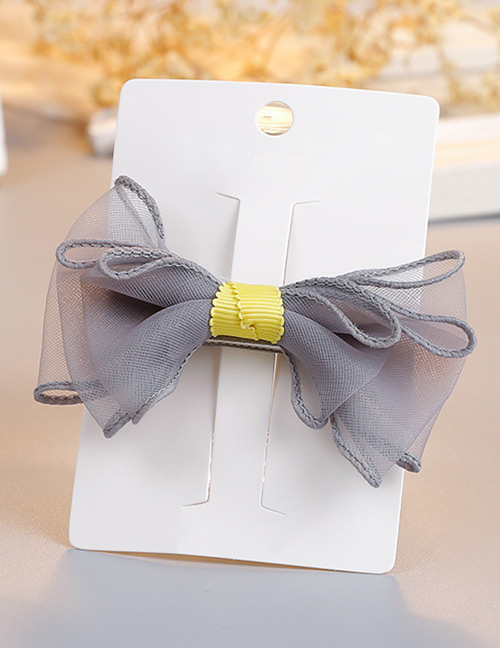 Fashion Gray Bowknot Shape Decorted Hair Clip