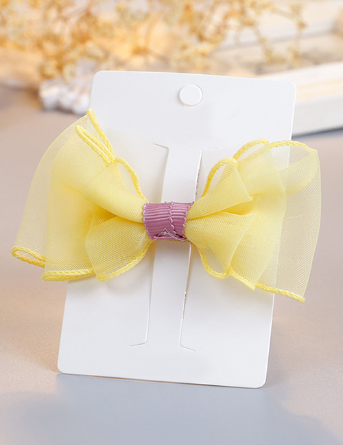 Fashion Yellow Bowknot Shape Decorted Hair Clip