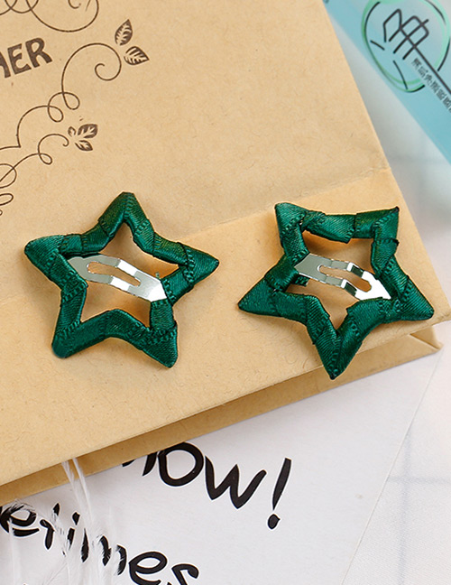 Fashion Olive Green Star Shape Decorated Hair Clip
