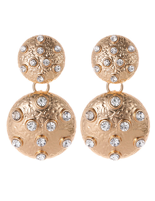 Fashion Gold Color Ball Shape Decorated Earrings