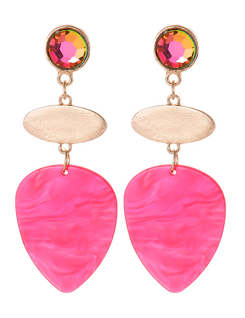 Fashion Plum Red Water Drop Shape Decorated Earrings