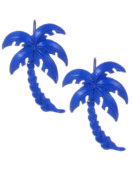 Fashion Sapphire Blue Tree Shape Decorated Earrings