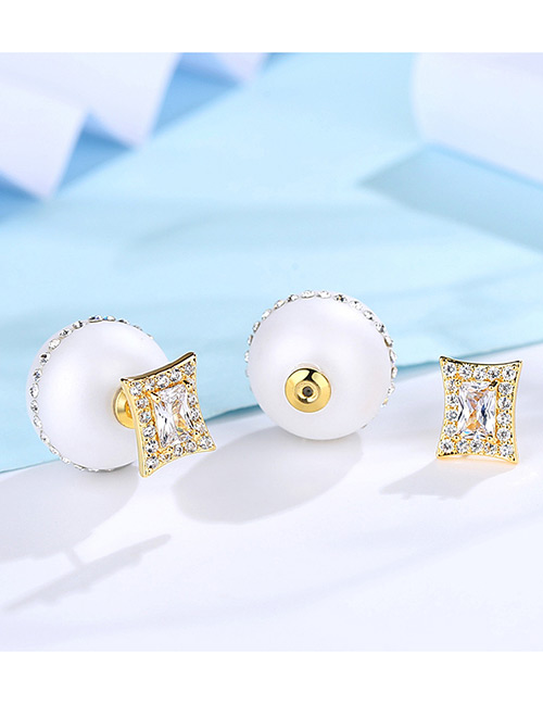 Fashion White Pearl Decorated Pure Color Decorated