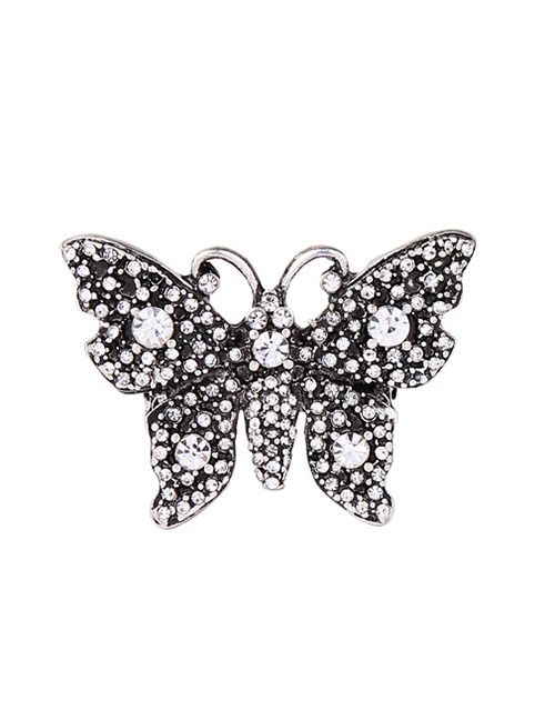 Elegant Silver Color Butterfly Shape Design Simple Ring