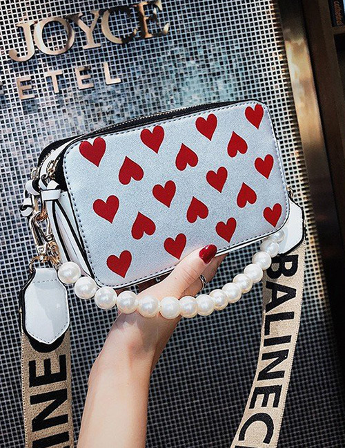 Fashion Silver Color Heart Pattern Decorated Bag