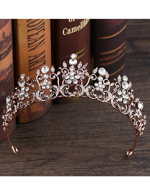 Fashion Rose Gold Crown Shape Decorated Hair Accessories