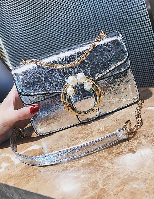 Fashion Silver Color Round Shape Decorated Bag